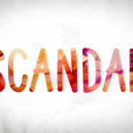 Scandal Concept Watercolor Word Art